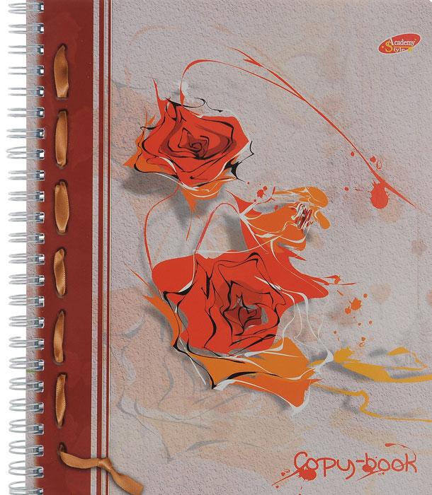 Тетрадь Розы, цвет: серый, красный, 96 листов72523WDТетрадь Розы с красочным изображением на обложке подойдет для выполнения любых работ.Обложка тетради с закругленными углами изготовлена из мелованного картона. Внутренний блок тетради на гребне состоит из 96 листов качественной белой бумаги. Все листы расчерчены в клетку без полей.