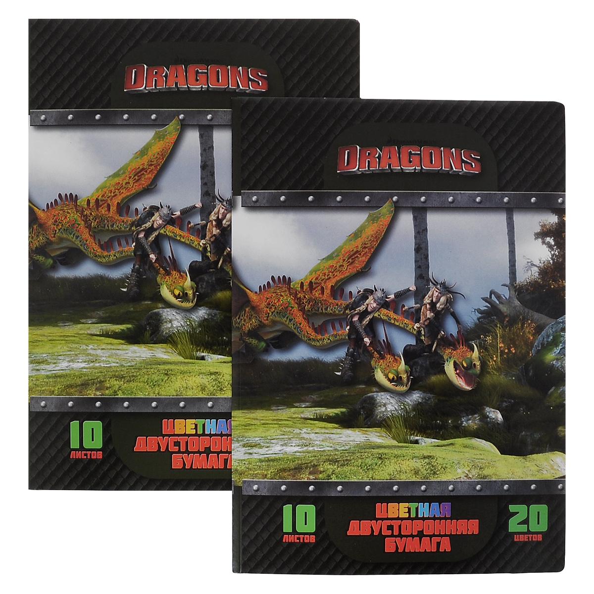 Набор цветной бумаги Dragons, двусторонняя, 20 цветов, 2 шт7710892Набор цветной бумаги Dragons идеально подойдет для занятий в детском саду, школе и дома. Двусторонняя цветная бумага с яркими красками обеспечит максимально удобный и увлекательный творческий процесс. Папка из мелованного картона с изображением героев мультфильма Как приручить дракона на обложке надежно защитит бумажные листы от повреждений. В набор входят цвета: желтый, ярко-желтый, красный, розовый, малиновый, оранжево-красный, голубой, синий,сиреневый, фиолетовый,темно-синий, темно-зеленый, черный, серый, оранжевый, темно-оранжевый, светло-зеленый, салатовый.В комплект входит два набора по 20 цветов.Формат листов А4.УВАЖАЕМЫЕ КЛИЕНТЫ!Обращаем ваше внимание на то, что товар может поступать в двух дизайнах!