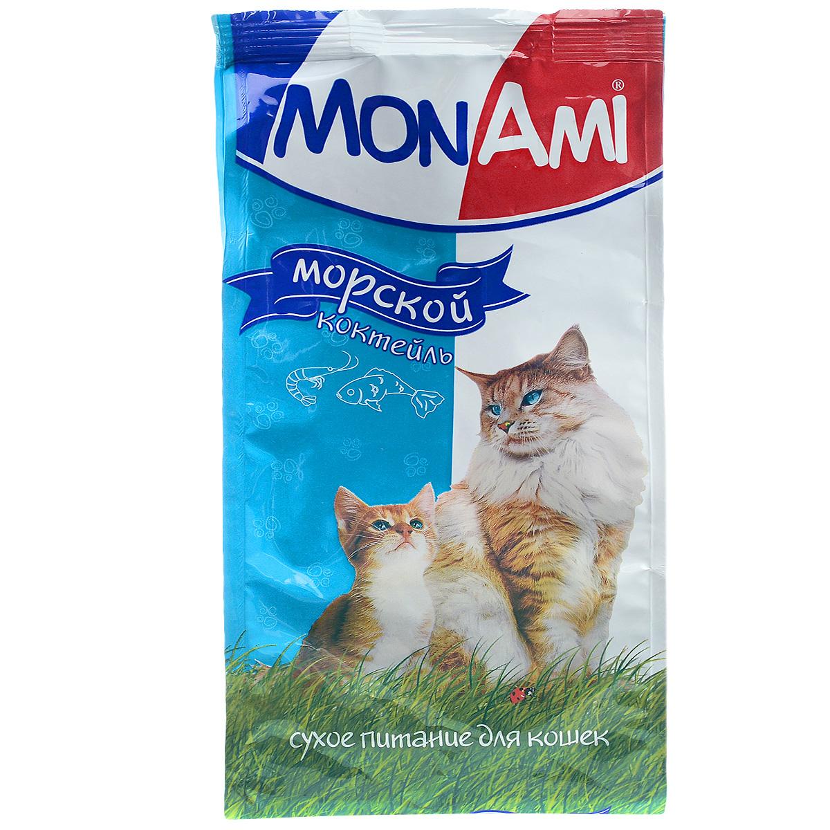 Корм сухой для кошек Mon Ami, с рыбой, 400 г14136Сухой корм для кошек Mon Ami - это полноценное сбалансированное питание для кошек, разработанное с использованием современных технологий. Особенности рациона: Необходимое сочетание ингредиентов для достижения правильной усвояемости питательных веществ организмом. Источник линолевой кислоты и правильного уровня витаминов группы В благотворно влияют на кожу и шерсть. Таурин - для здоровья глаз и сердца. Состав: злаки (пшеница, рис), экстракт белка растительного происхождения, мясо и продукты животного происхождения, подсолнечное масло, минеральные добавки, гидролизованная печень, рыба и продукты переработки рыбы, пульпа сахарной свеклы (жом), витамины, пивные дрожжи, таурин, антиоксидант. Анализ: сырой протеин 30%, сырой жир 10%, сырая зола 7%, сырая клетчатка 2,5%, влажность 10%, фосфор 0,9%, кальций 1,05%, витамин А 5000 МЕ/кг, витамин Д 500 МЕ/кг, витамин Е 30 мг/кг. Энергетическая ценность: 333 ккал/100 г. Товар...