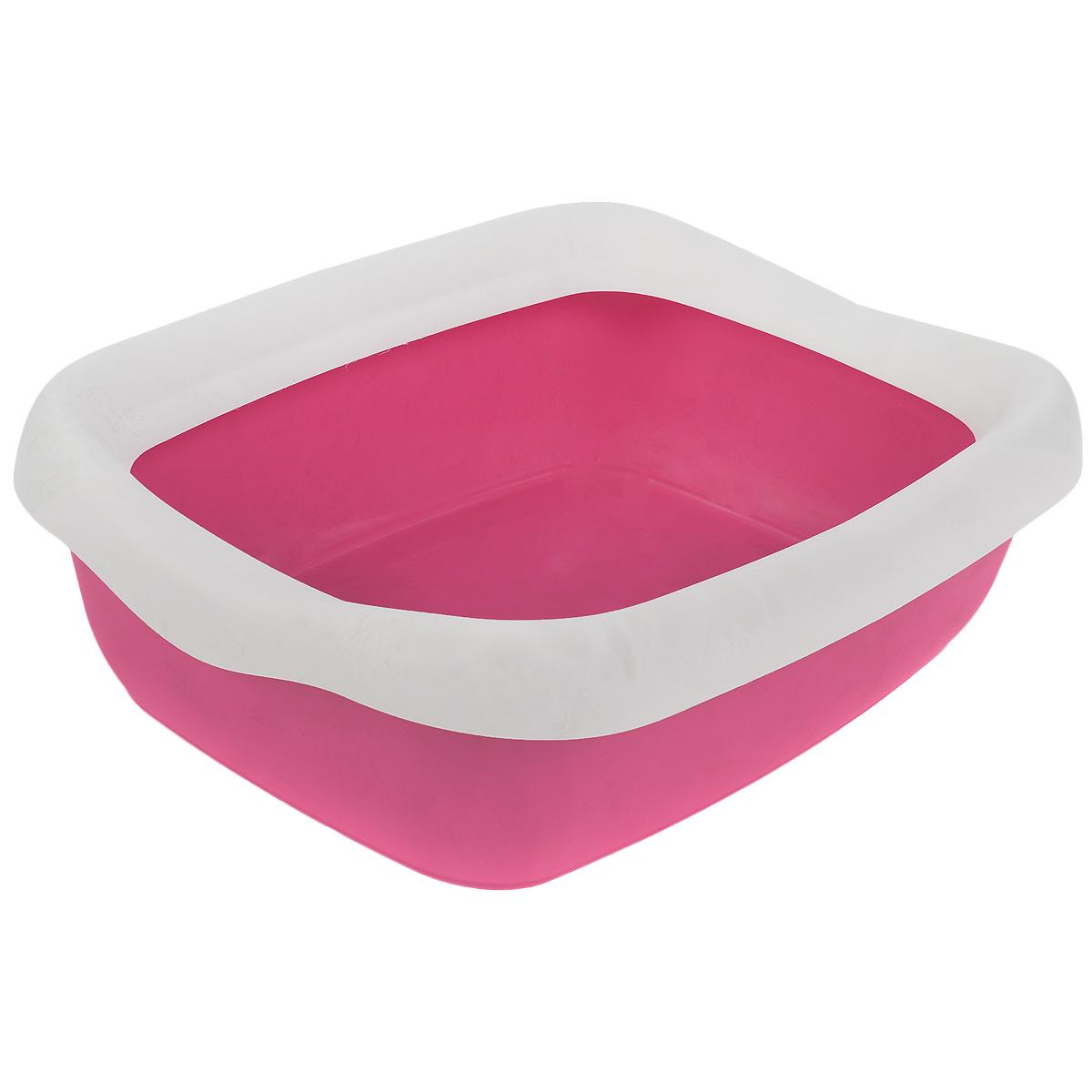 Туалет для кошек MPS Beta Maxi, с бортом, цвет: розовый, белый, 49 см х 39 см х 13 смS08040200 розовыйТуалет для кошек MPS Beta Maxi изготовлен из качественного прочного пластика. Высокий борт, прикрепленный по периметру лотка, удобно защелкивается и предотвращает разбрасывание наполнителя. Это самый простой в употреблении предмет обихода для кошек и котов.