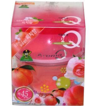 Освежитель-ароматизатор воздуха Aroma Q, персик004286Освежитель – ароматизатор (гелеобразный) предназначен для различных помещений, прекрасно впишется в любой интерьер, крепиться на любую поверхность. Благодаря специальной формуле поглотит неприятные запахи и окутает тонким ароматом