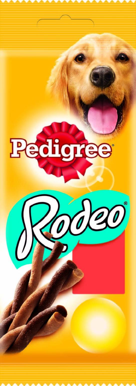 Лакомство для собак Pedigree Rodeo, мясные косички, 70 г0120710Лакомство для собак Pedigree Rodeo подходит в качестве дополнения к основному корму. В упаковке - 4 косички. Собаки маленьких пород, например, такса не более 3-х штук в неделю. Собаки средних пород, например, кокер-спаниель не более 6 штук в неделю. Собаки крупных пород, например, лабрадор не более 12 штук в неделю. Рекомендовано для собак с массой тела более 5 кг. Не подходит для щенков моложе 4-х месяцев.Состав: злаки, продукты растительного происхождения, мясо и субпродукты (включая 4% говядины), сахара, жиры и масла, минералы, белковые растительные экстракты, семена и травы. Пищевая ценность (100 г): белки - 24,5 г; жиры - 3,5 г; зола -5,6 г; клетчатка - 0,7 г; влага - 13,5 г; кальций - 0,75 г; омега-3 жирные кислоты - 65,9 мг; витамин А - 569,8 МЕ; витамин Е - 5,7 мг; моносульфат железа - 5,2 мг. Энергетическая ценность (100 г): 336 ккал. Товар сертифицирован.