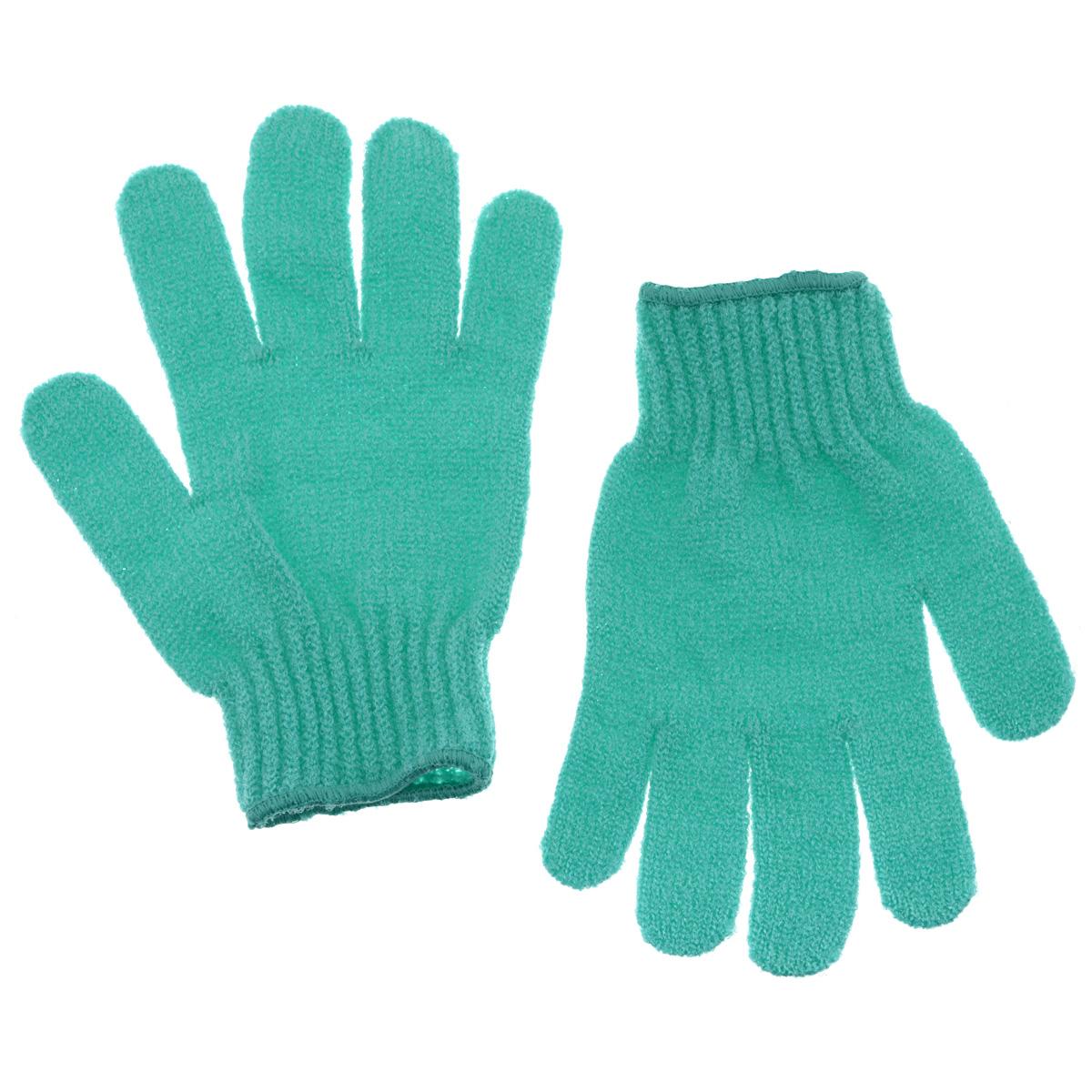 Riffi Перчатки для пилинга, цвет: бирюзовый615_бирюзовыйЭластичные безразмерные перчатки Riffi обладают активным антицеллюлитным эффектом и отличным пилинговым действием, тонизируя, массируя и эффективно очищая вашу кожу. Riffi освобождает кожу от отмерших клеток, стимулирует регенерацию. Эффективно предупреждают образование целлюлита и обеспечивают омолаживающий эффект. Кожа становится гладкой, упругой и лучше готовой к принятию косметических средств. Интенсивный и пощипывающе свежий массаж тела с применением Riffi стимулирует кровообращение, активирует кровоснабжение, способствует обмену веществ. В комплекте 1 пара перчаток. Характеристики: Материал: 100% полиакрил. Размер перчатки (в нерастянутом виде): 17,5 см x 12,5 см. Артикул: 615.