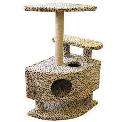 Домик для кошек Пушок, угловой, 57 см х 46 см х 98 см4640000931056Большой, уютный домик с когтеточкой, ступенькой и полочкой отлично подойдет для котят и взрослых кошек. Такой домик станет не только идеальным местом для подвижных игр вашего любимца, но и местом для отдыха. Благодаря столбику-когтеточке, обернутой веревками из сизаля, ваша кошка удовлетворит природную потребность точить когти, что поможет сохранить вашу мебель и ковры. Для приучения любимца к когтеточке можно натереть ее сухой валерьянкой или кошачьей мятой.