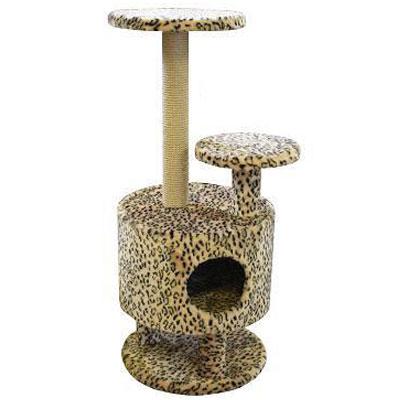 Домик для кошек Пушок, круглый, 42 см х 42 см х 98 см4640000931131Большой, уютный домик с когтеточкой, ступенькой и полочкой отлично подойдет для котят и взрослых кошек. Такой домик станет не только идеальным местом для подвижных игр вашего любимца, но и местом для отдыха. Благодаря столбику-когтеточке, обернутой веревками из сизаля, ваша кошка удовлетворит природную потребность точить когти, что поможет сохранить вашу мебель и ковры. Для приучения любимца к когтеточке можно натереть ее сухой валерьянкой или кошачьей мятой.