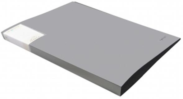 Silwerhof Папка со скоросшивателем, А4, р=0.7мм, PERLEN, пружин.скоросш., карман, Metallic, серебристая арт.281901-77 ед.изм.Штуки