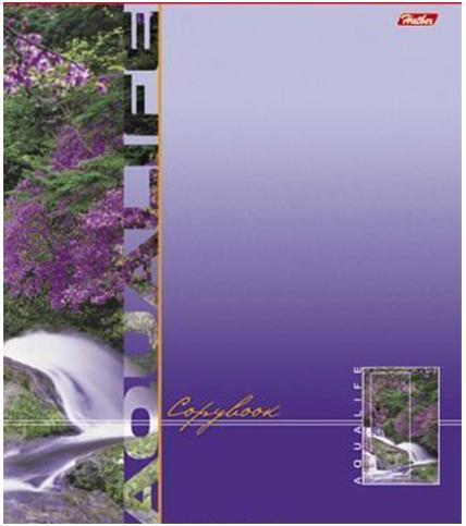 Тетрадь 96л А5ф клетка на скобе серия -Аквалайф-, цвет: фиолетовый96Т5B1_фиолетовый96Т5B1 Тетрадь 96л А5ф клетка на скобе серия -Аквалайф-, цвет: фиолетовый