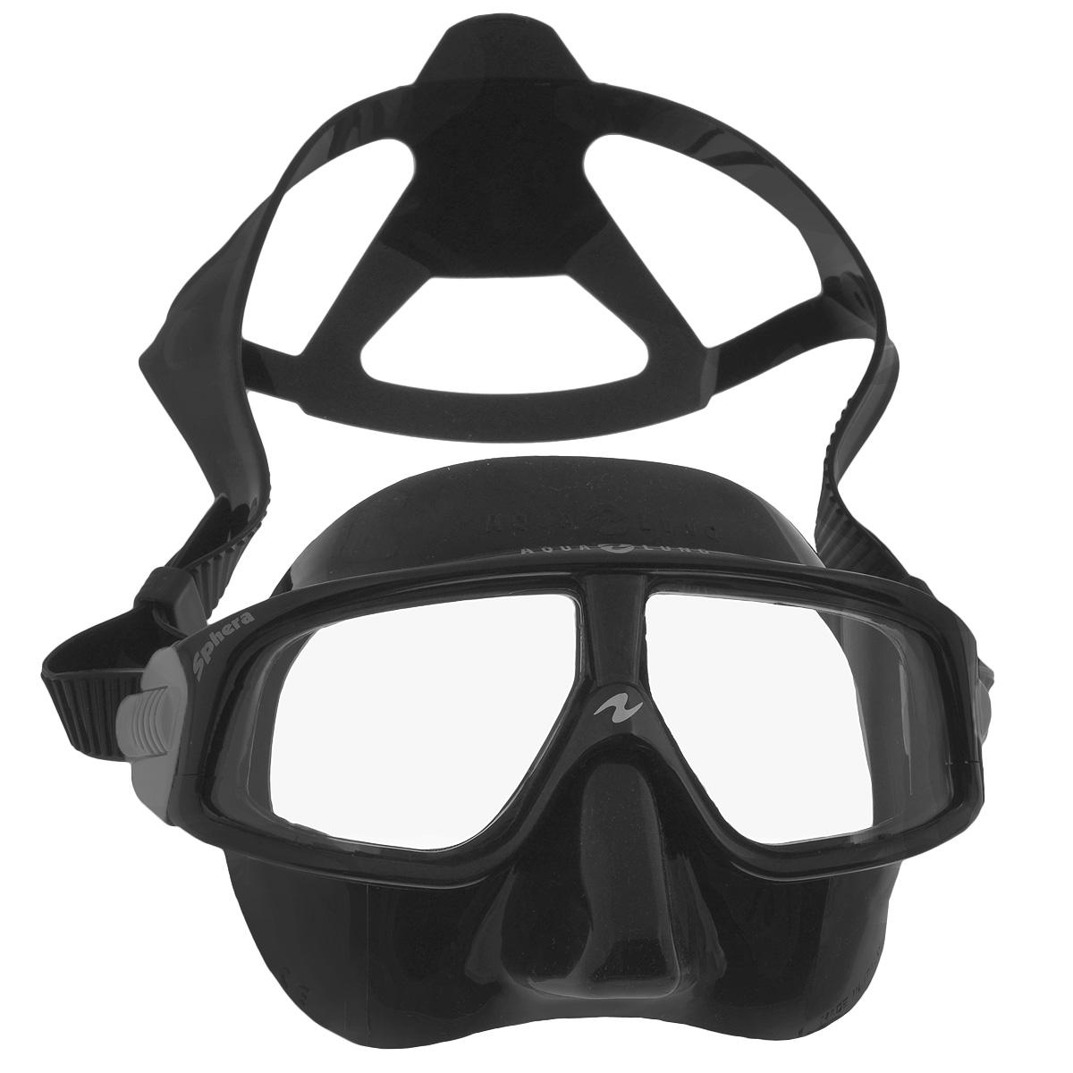 Маска для плавания Aqua Lung, цвет: черныйTN 105010 (105360, 105480)Маска для плавания Aqua Lung сочетает в себе уникальные свойства в результате применения особых материалов и технологий. Новый материал Plexisol позволил создать линзы, не дающие искажений пропорций и размеров объектов под водой, и обеспечивающие максимальный обзор в 180°. Особенности маски: Plexisol в 10 раз легче воды и при этом очень прочен, поэтому эта маска самая легкая в мире (98 г); Линзы изготовлены из плексисола, обеспечивающего видимость реального расстояния под водой; Внешняя сторона линз имеет защитное покрытие от царапин, а внутренняя обработана антизапотевателем; Обзор 180° без каких-либо искажений; Самое маленькое подмасочное пространство среди имеющихся на рынке масок; Малый вес - 98 г, (вес средней маски - 200 г); Анатомический фланец, изготовленный из гипоаллергенного медицинского силикона; Быстро регулируемые пряжки. Материал: силикон, plexisol.