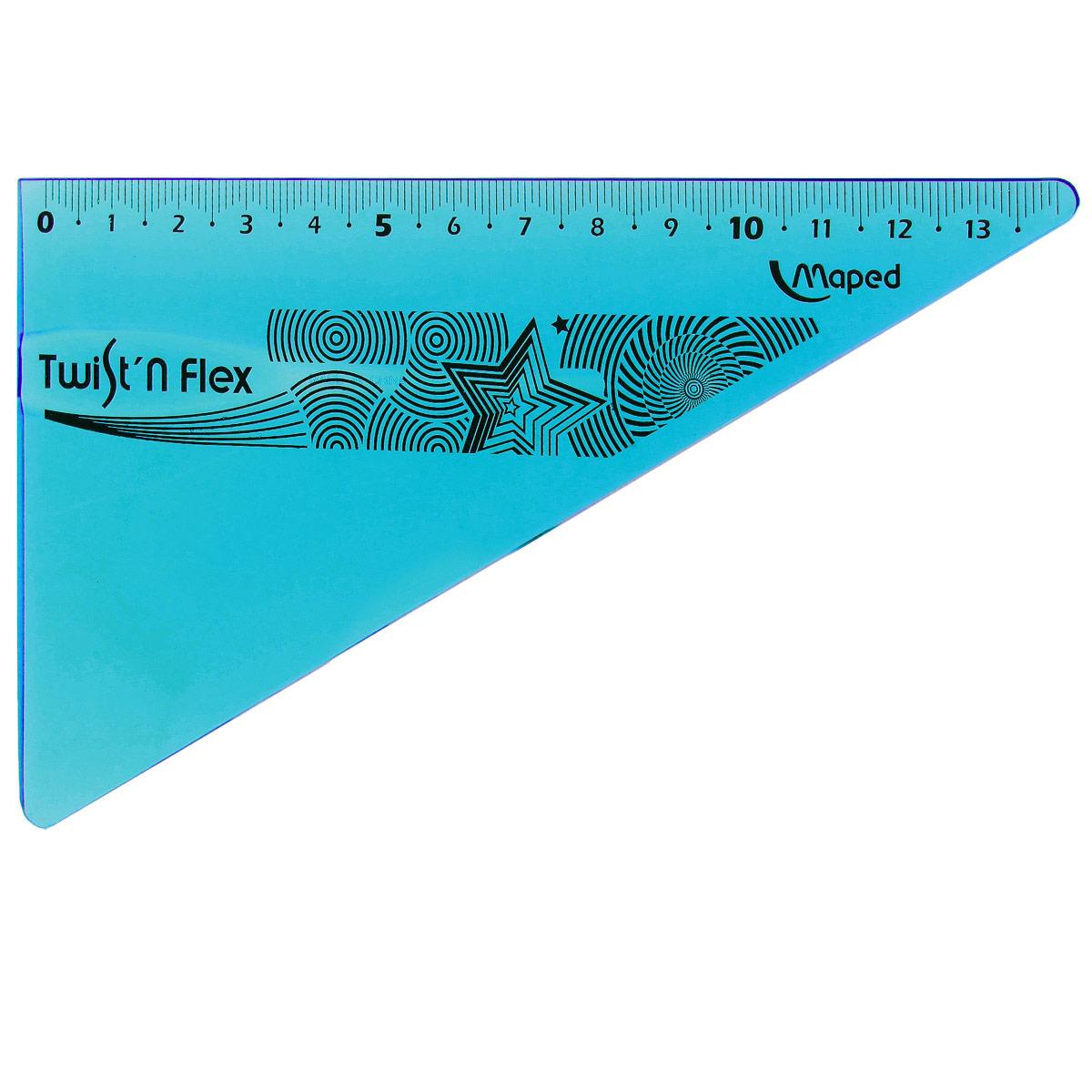"""Угольник Maped """"Twist-n-Flex"""", неломающийся, 14 см, цвет: синий 279410_синий"""