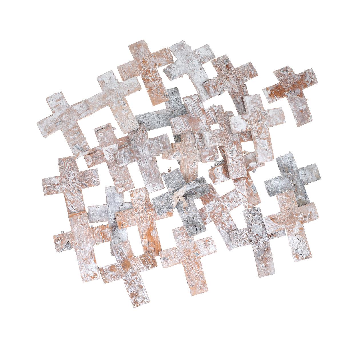 Декоративный элемент Dongjiang Art Крест, цвет: белый, 25 шт7709020Декоративный элемент Dongjiang Art Крест, изготовленный из натуральной коры дерева, предназначен для украшения цветочных композиций. Изделие можно также использовать в технике скрапбукинг и многом другом. Флористика - вид декоративно-прикладного искусства, который использует живые, засушенные или консервированные природные материалы для создания флористических работ. Это целый мир, в котором есть место и строгому математическому расчету, и вдохновению.