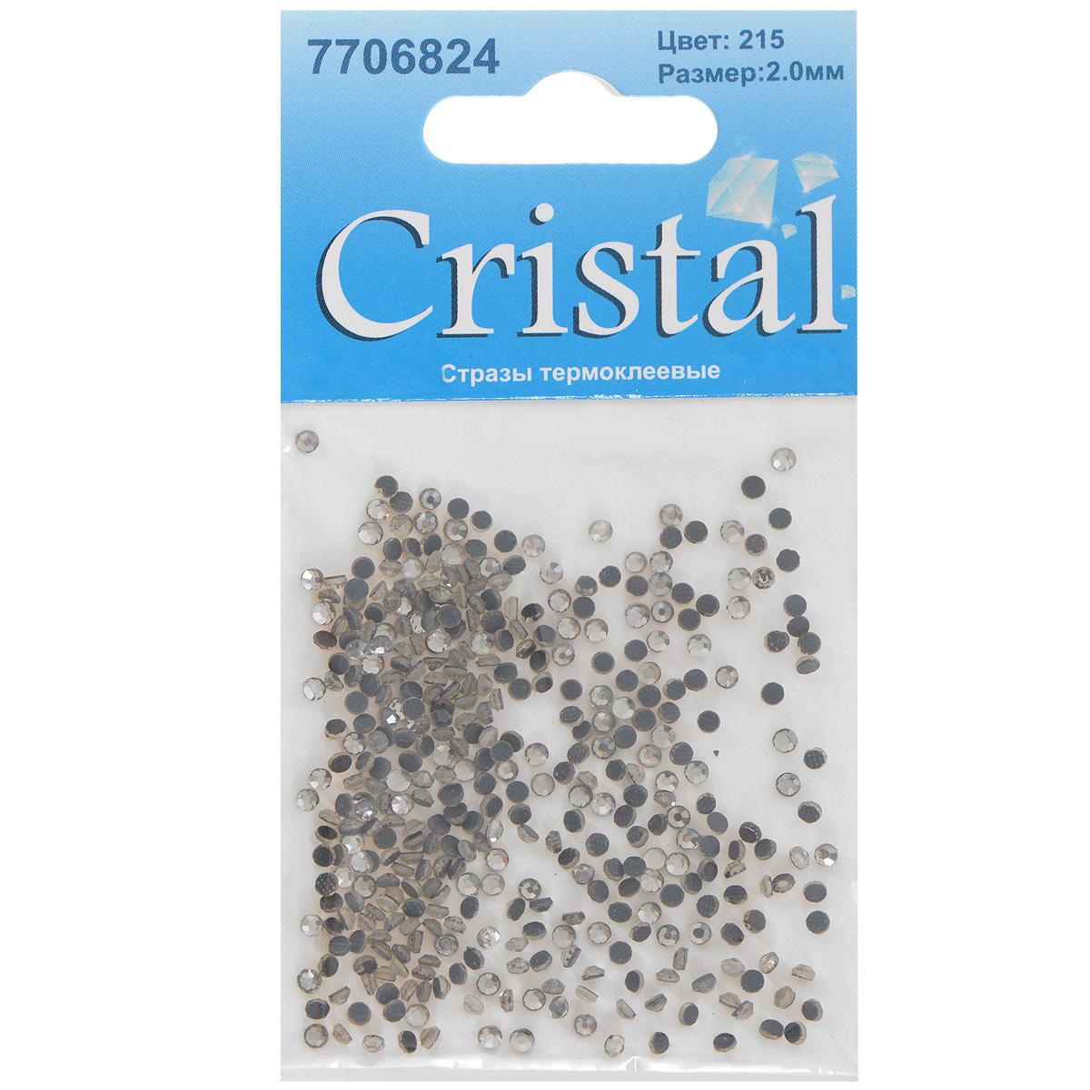 Стразы термоклеевые Cristal, цвет: белый (215), диаметр 2 мм, 432 шт7706824_215Набор термоклеевых страз Cristal, изготовленный из высококачественного акрила, позволит вам украсить одежду, аксессуары или текстиль. Яркие стразы имеют плоское дно и круглую поверхность с гранями. Дно термоклеевых страз уже обработано особым клеем, который под воздействием высоких температур начинает плавиться, приклеиваясь, таким образом, к требуемой поверхности. Чаще всего их используют в текстильной промышленности: стразы прикладывают к ткани и проглаживают утюгом с обратной стороны. Также можно использовать специальный паяльник. Украшение стразами поможет сделать любую вещь оригинальной и неповторимой. Диаметр страз: 2 мм.
