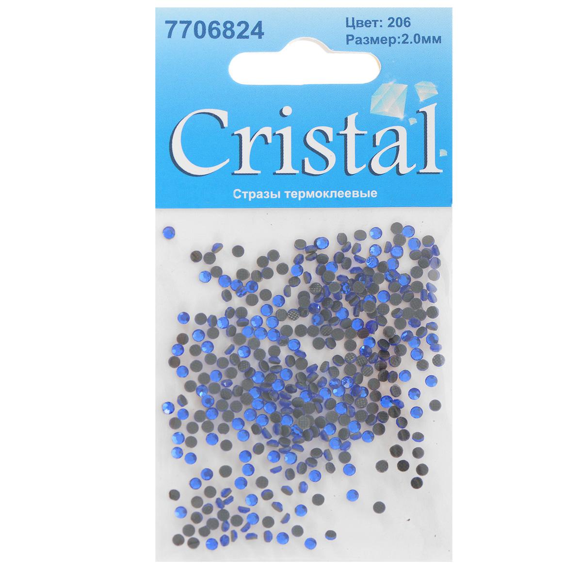 Стразы термоклеевые Cristal, цвет: синий (206), диаметр 2 мм, 432 шт7706824_206Набор термоклеевых страз Cristal, изготовленный из высококачественного акрила, позволит вам украсить одежду, аксессуары или текстиль. Яркие стразы имеют плоское дно и круглую поверхность с гранями. Дно термоклеевых страз уже обработано особым клеем, который под воздействием высоких температур начинает плавиться, приклеиваясь, таким образом, к требуемой поверхности. Чаще всего их используют в текстильной промышленности: стразы прикладывают к ткани и проглаживают утюгом с обратной стороны. Также можно использовать специальный паяльник. Украшение стразами поможет сделать любую вещь оригинальной и неповторимой. Диаметр страз: 2 мм.