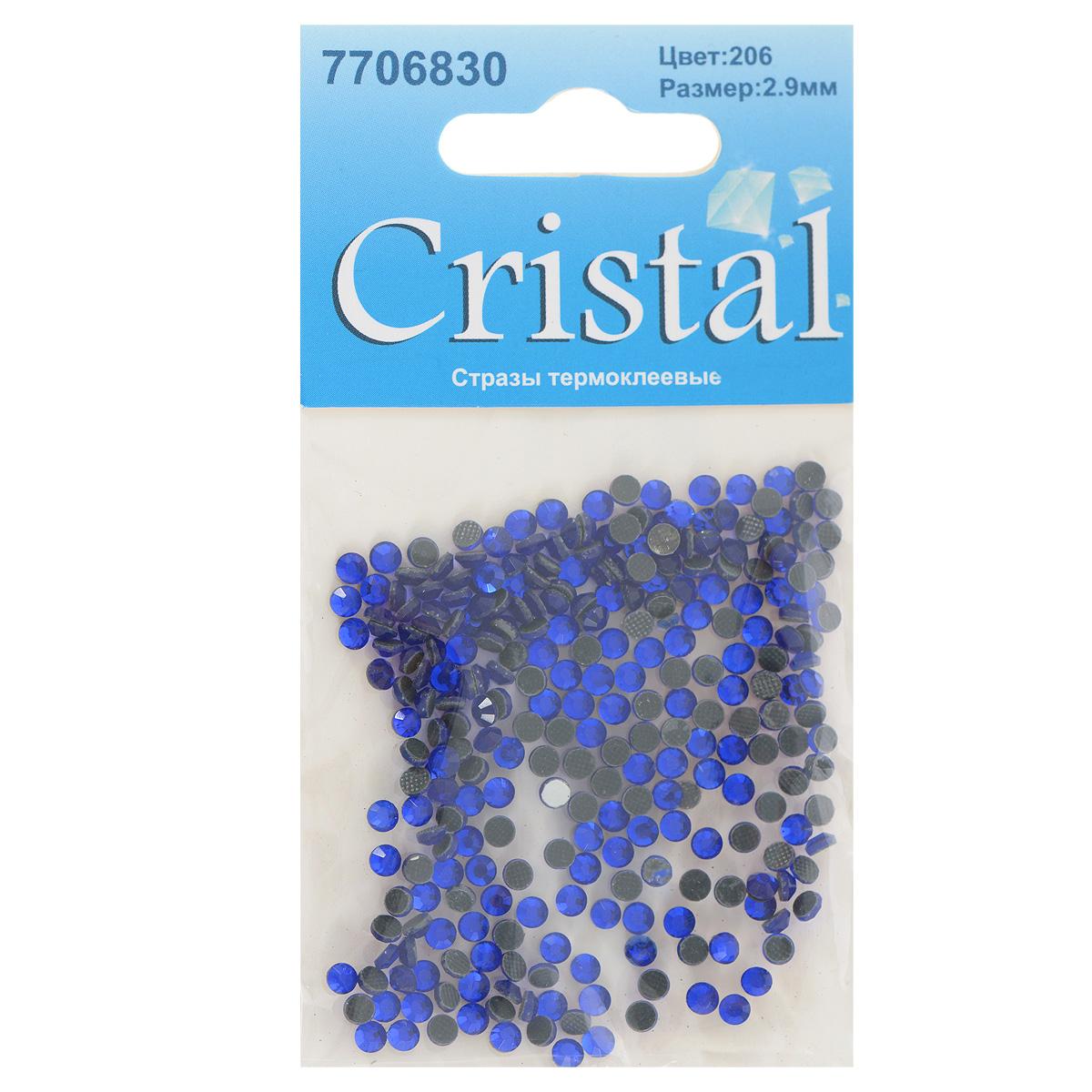 Стразы термоклеевые Cristal, цвет: синий (206), диаметр 2,9 мм, 288 шт7706830_206Набор термоклеевых страз Cristal, изготовленный из высококачественного акрила, позволит вам украсить одежду, аксессуары или текстиль. Яркие стразы имеют плоское дно и круглую поверхность с гранями. Дно термоклеевых страз уже обработано особым клеем, который под воздействием высоких температур начинает плавиться, приклеиваясь, таким образом, к требуемой поверхности. Чаще всего их используют в текстильной промышленности: стразы прикладывают к ткани и проглаживают утюгом с обратной стороны. Также можно использовать специальный паяльник. Украшение стразами поможет сделать любую вещь оригинальной и неповторимой. Диаметр страз: 2,9 мм.