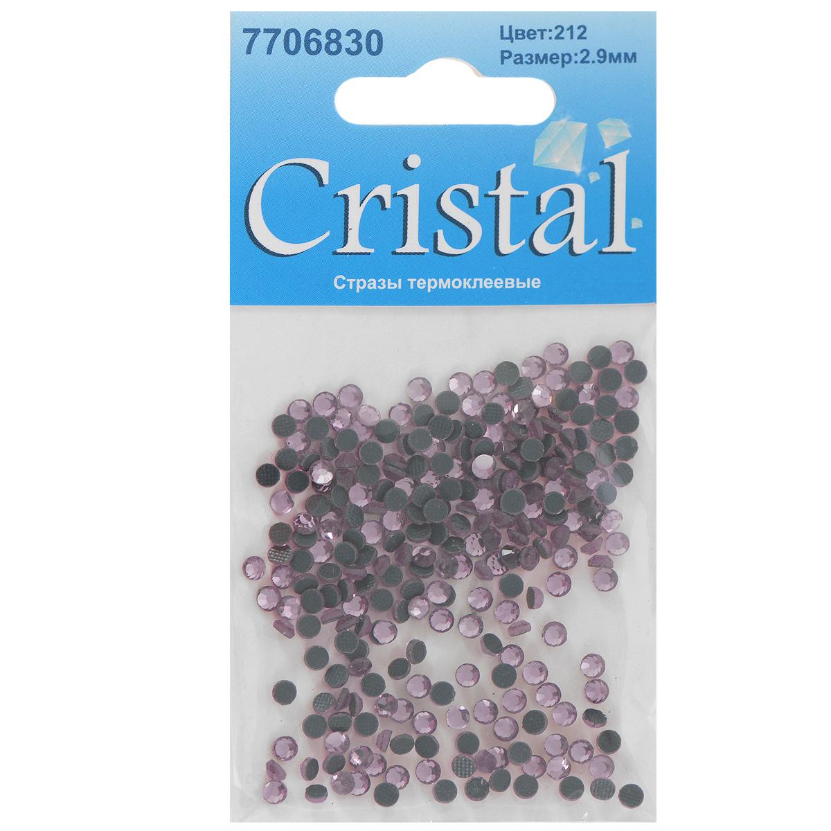Стразы термоклеевые Cristal, цвет: бледно-розовый (212), диаметр 2,9 мм, 288 штC0042415Набор термоклеевых страз Cristal, изготовленный из высококачественного акрила, позволит вам украсить одежду, аксессуары или текстиль. Яркие стразы имеют плоское дно и круглую поверхность с гранями.Дно термоклеевых страз уже обработано особым клеем, который под воздействием высоких температур начинает плавиться, приклеиваясь, таким образом, к требуемой поверхности. Чаще всего их используют в текстильной промышленности: стразы прикладывают к ткани и проглаживают утюгом с обратной стороны. Также можно использовать специальный паяльник. Украшение стразами поможет сделать любую вещь оригинальной и неповторимой. Диаметр страз: 2,9 мм.