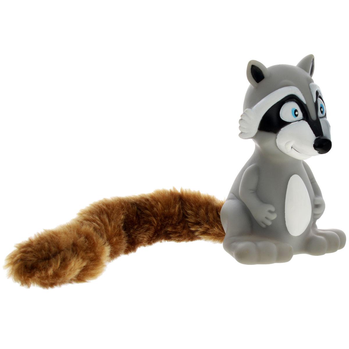 Игрушка для собак Aveva Енот0120710Игрушка для собак Aveva Енот, выполненная в виде забавного енота с плюшевым хвостом, изготовлена из резины. Такая игрушка позволит весело провести время вашему питомцу, а также поможет вам сохранить в целости личные вещи и предметы интерьера. Яркая игрушка привлечет внимание вашего любимца, не навредит здоровью и займет его на долгое время. Длина хвоста игрушки: 20 см.