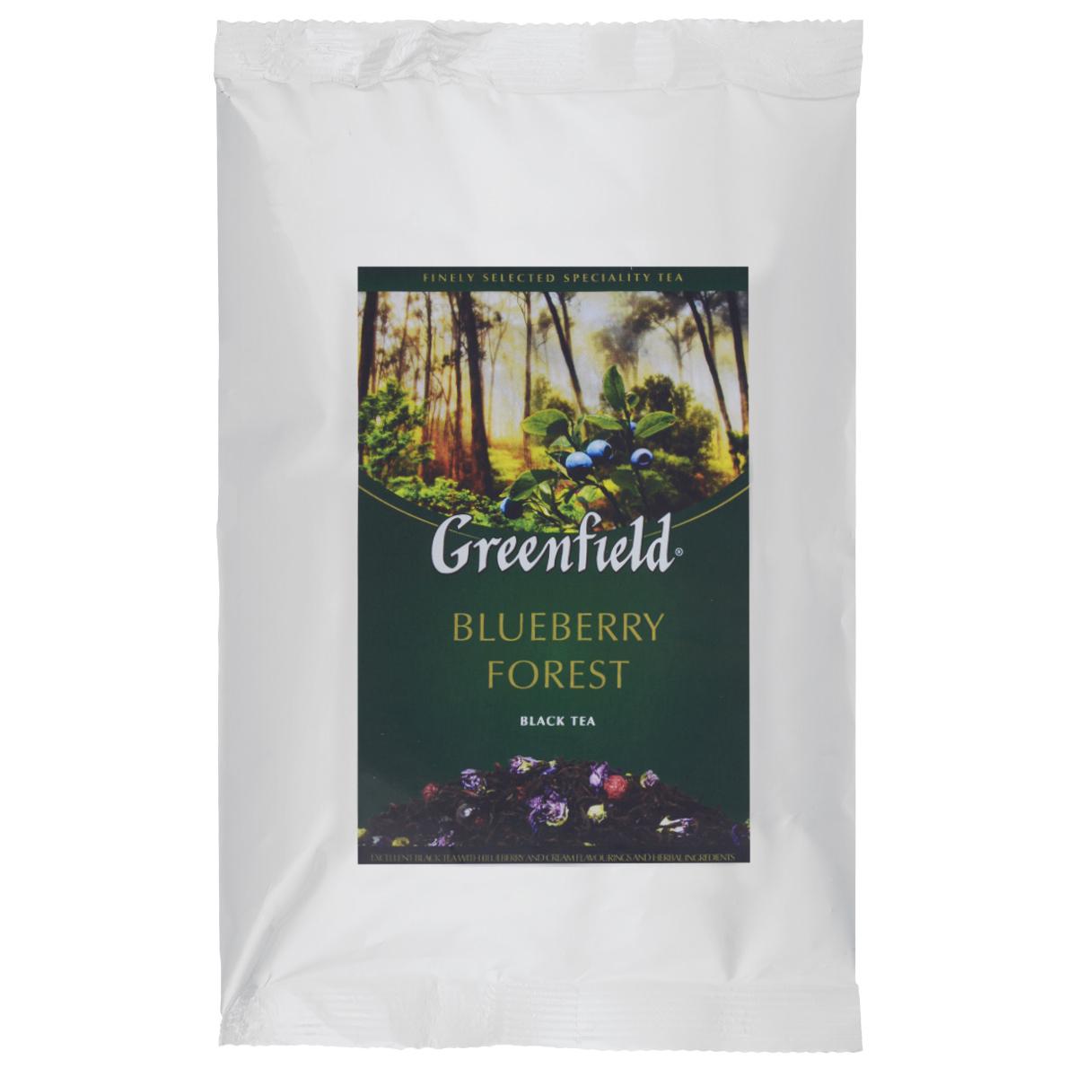 Greenfield Blueberry Forest черный листовой чай, 250 г0977-15Greenfield Blueberry Forest - цейлонский черный чай с ароматом черники, сливок, и растительными компонентами. Мягкий чуть пряный вкус превосходного цейлонского чая становится еще ярче и выразительнее благодаря самобытному «северному» вкусу и естественному свежему аромату ягод черники.