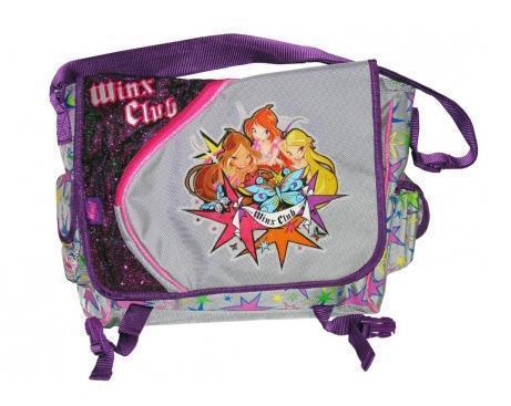 Рюкзак детский Winx Club, цвет: фиолетовый, серый. 6331272523WDДетский рюкзак Winx сконструирован так, что когда он заполнен, то позволяет ребенку держать спинку прямо. Если ему приходиться наклоняться вперед, что бы удерживать равновесие, то Вы выбрали плохо сконструированный рюкзак.