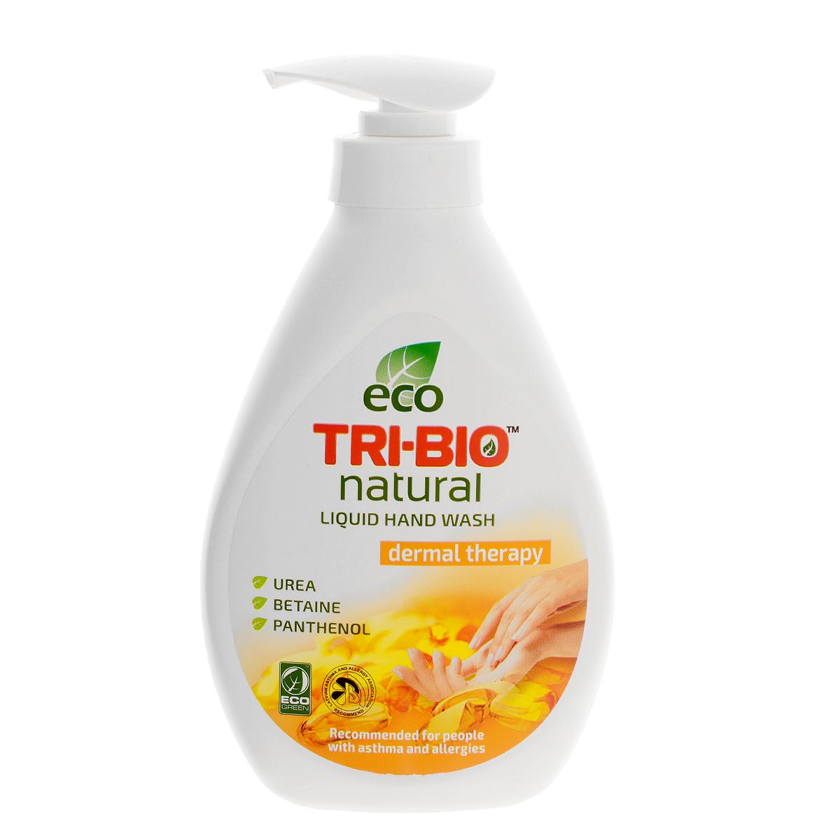 Натуральное жидкое эко-мыло Tri-Bio Дерматерапия, 240 мл0100Tri-Bio Дерматерапия - это уникальное жидкое мыло, основанное на натуральных растительных и минеральных компонентах, с фармацевтической урея, бетаином, пантенолом и лактатом, активно исцеляет и регенерирует сухую и раздраженную кожу. Подходит для нежной кожи детей. Рекомендовано для людей с сухой, чувствительной кожей, склонных к аллергиям и астме. Гипоаллергенное, не содержит ароматов, красителей и парабенов, нейтральный рн, биоразлагаемое. Восстанавливает естественный баланс кожи и влажность. Помогает сохранить кожу мягкой, гладкой, шелковистой и здоровой. Присвоены ECO сертификаты.