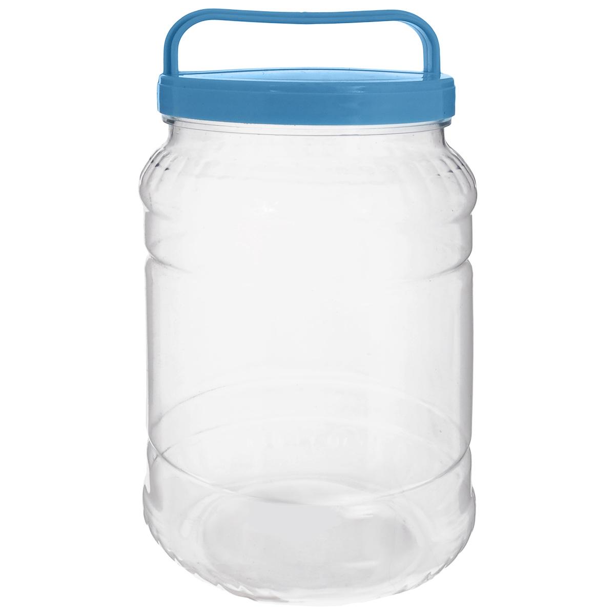 Бидон Альтернатива, цвет: прозрачный, голубой, 2 лМ461_голубойБидон Альтернатива предназначен для хранения и переноски пищевых продуктов, таких как молоко, вода и прочее. Выполнен из пищевого высококачественного пластика. Оснащен ручкой для удобной переноски. Бидон Альтернатива станет незаменимым аксессуаром на вашей кухне. Высота бидона (без учета крышки): 20,5 см. Диаметр: 10,5 см.