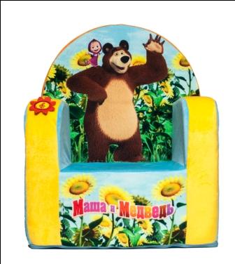 Кресло с чехлом Маша и Медведь с музыкальным элементом 53*41*32