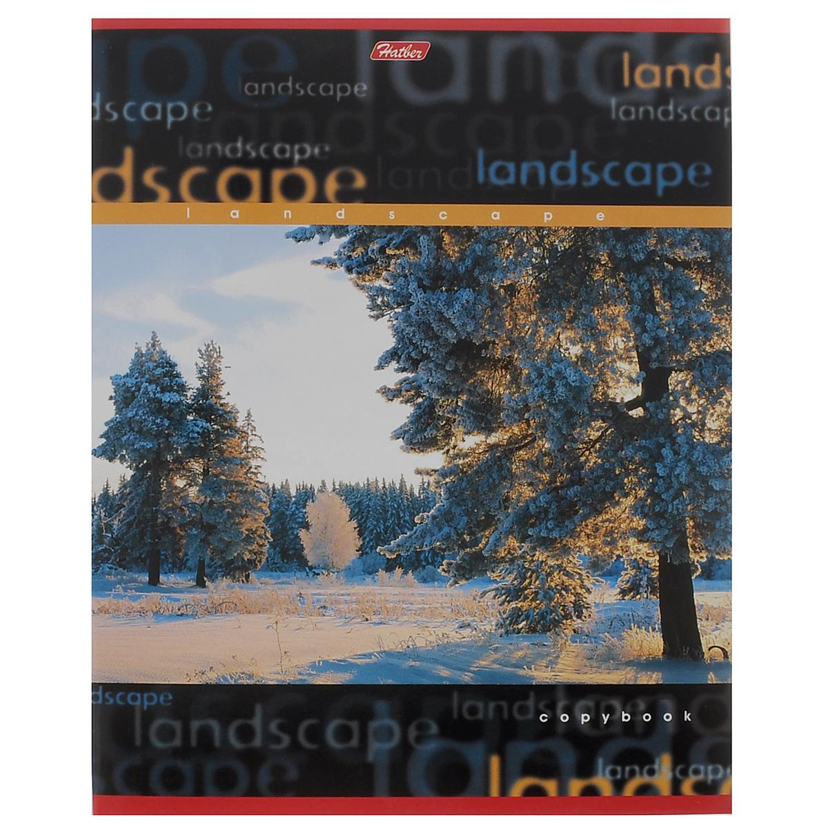 Тетрадь в линейку Hatber Пейзажи. Зимний лес, 96 листов96Т5B2_черныйТетрадь Hatber Пейзажи. Зимний лес отлично подойдет для занятий школьнику или студенту. Обложка, выполненная из плотного мелованного картона, позволит сохранить тетрадь в аккуратном состоянии на протяжении всего времени использования. Лицевая сторона оформлена красочным изображением зимнего пейзажа. Внутренний блок тетради, соединенный металлическими скрепками, состоит из 96 листов белой бумаги в голубую линейку с полями.