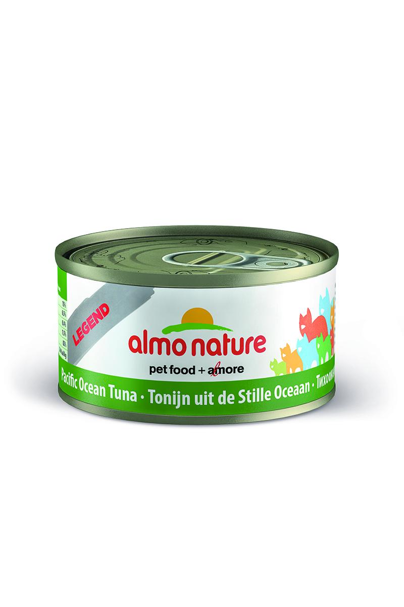 Консервы для кошек Almo Natureс Classic, с тихоокеанским тунцом, 70 г20098Консервы Almo Nature Classic - сбалансированный влажный корм для кошек, изготовленный из ингредиентов высшего качества, являющихся натуральными источниками витаминов и питательных веществ. Состав: тихоокеанский тунец - 55%, рыбный бульон - 24%, рис - 1%. Гарантированный анализ: белки - 20%, клетчатка - 0,1%, жиры - 0,5%, зола - 2%, влажность - 77%. Калорийность - 742 ккал/кг. Товар сертифицирован.