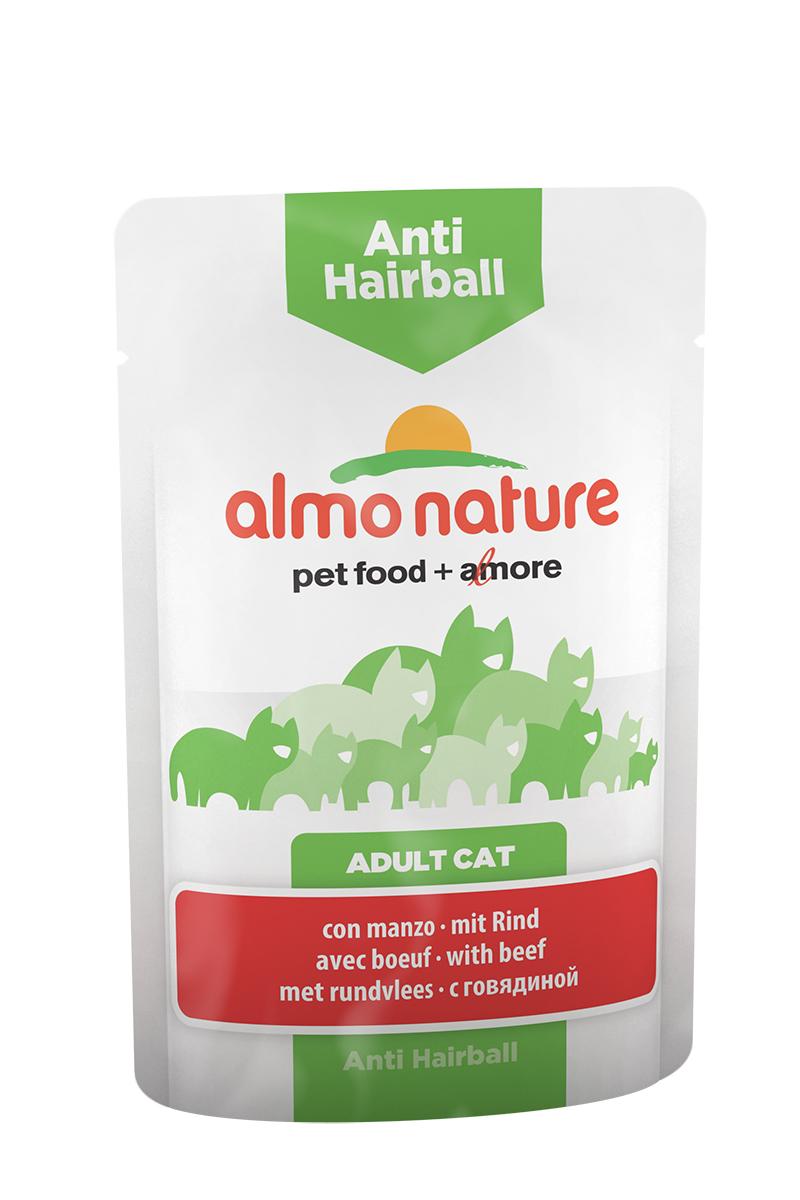 Консервы для кошек Almo Nature Functional Line, для вывода шерсти, с говядиной, 70 г0120710Консервы для кошек Almo Nature Functional Line - специализированная линейка кормов, разработанная с учетом индивидуальных особенностей кошек.Anti hairball - это специально разработанный функциональным сухой корм для взрослых кошек. Содержит растительные волокна, которые имеют профилактический эффект против возникновения комков шерсти в кишечнике и облегчает их прохождение через пищеварительный тракт. Состав: мясо и его производные (говядина 4%), злаки, экстракт растительного белка, производные растительного происхождения (инулин 0,1%), минералы. Добавки: витамин D3 - 315 IU/кг, витамин E - 74 мг/кг, витамин B1 - 2 мг/кг, E2 (Иодин) - 197 мг/кг, E4 (Медь) - 1 мг/кг, E5 (марганец) - 2 мг/кг, E6 (Цинк) - 16 мг/кг, таурин - 230 мг/кг; технологические добавки: камедь кассии - 562 мг/кг. Пищевая ценность: белки - 9%, клетчатка - 1,5%, масла и жиры - 4%, зола - 3%, влажность - 82%. Калорийность: 740 ккал/кг.Товар сертифицирован.