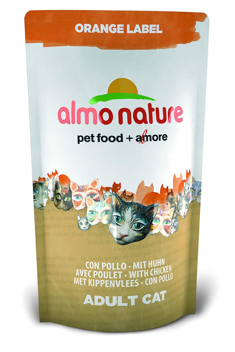 """Корм сухой Almo Nature """"Orange label"""" для кастрированных кошек, с курицей, 750 г 23240"""