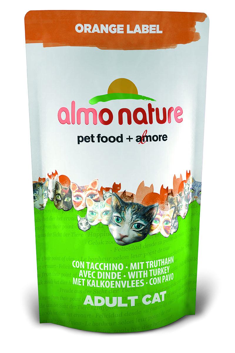 """Корм сухой Almo Nature """"Orange label"""" для кастрированных кошек, с индейкой, 750 г 23242"""