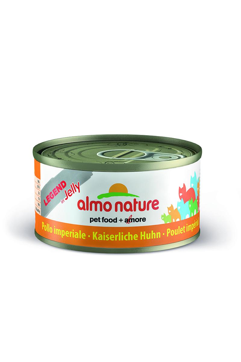 Консервы для кошек Almo Nature Legend. Царская курица, 70 г0120710Консервы Almo Nature Legend. Царская курица - сбалансированный влажный корм для кошек, изготовленный из ингредиентов высшего качества, являющихся натуральными источниками витаминов и питательных веществ. Консервы Almo Nature Legend изготавливаются по уникальной технологии, в процессе которой мясные ингредиенты упаковываются в свежем сыром виде, затем проходят термическую обработку прямо в упаковке, что позволяет сохранитьвсе питательные вещества и прекрасный вкус и аромат. Состав: императорский цыпленок 75%, куриный бульон 22,8%, рис 1%, желирующий агент 1,2%. Добавки: камедь кассии 3850 мг/кг. Пищевая ценность: белки 16%, клетчатка 0.1%, масла и жиры 2%,зола 1%, влажность 79%. Калорийность: 742 ккал/кг.Товар сертифицирован.