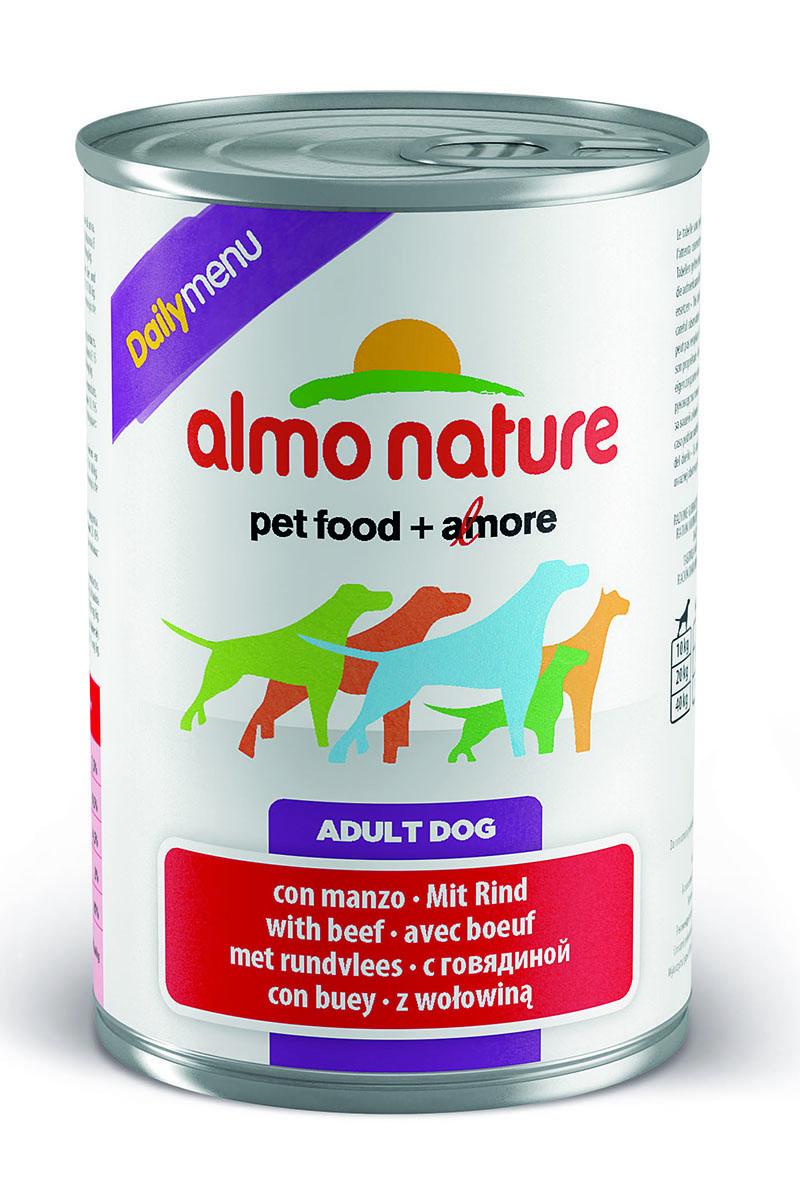 Консервы для собак Almo Nature Daily Menu, с говядиной, 400 г10226Консервы Almo Nature Daily Menu - сбалансированный влажный корм для собак, изготовленный из ингредиентов высшего качества, являющихся натуральными источниками витаминов и питательных веществ. Состав: мясо и его производные (говядина), яйца, злаки, минералы. Пищевые добавки: витамин А 1570 МЕ/кг, витамин D3 195 МЕ/кг, витамин Е 15 мг/кг, сульфат меди пентагидрат 7.6 мг/кг (CU1,9 мг/кг), камедь кассии 3000 мг/кг. Гарантированные анализ: белки – 7,5%, клетчатка – 0,5%, жиры – 4,5%, зола – 2%, влага – 81%. Калорийность: 1100 ккал/кг. Товар сертифицирован.