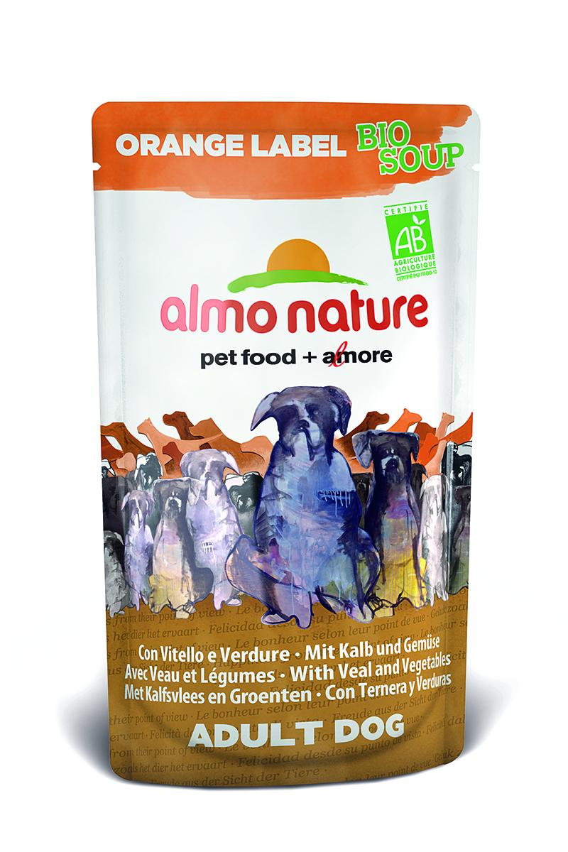 Органик-Суп для Собак с Телятиной и Овощами (Orange label BIO Soup Veal&Vegetables), 140 г.0120710Состав: телятина и ее производные (из которых телятина мин 4%), овощи (морковь и зеленый горошек мин. 4% в соусе), злаки, минералы, экстракт растительного белка.Питательные добавки: Витамин D3 276 МЕ/кгГарантированный анализ: белки – 7,5%, клетчатка – 0,8%, жиры – 6%, зола – 2%, влажность – 81%.Калорийность – 964 ккал/кг