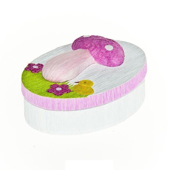 Шкатулка декоративная Весенняя, цвет: розовый, 10,5 х 8 х 4 см