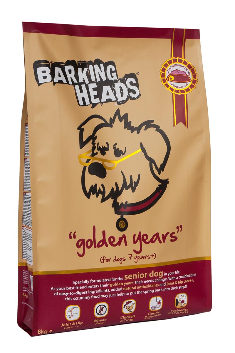 Корм сухой Barking Heads Золотые годы, для собак старше 7 лет, с курицей и рисом, 6 кг0120710Сухой корм Barking Heads - вкуснейший полнорационный корм для собак, специально разработанный, чтобы держать наших любимцев в наилучшей форме! Натуральные ингредиенты непременно понравятся вашему питомцу.Состав: сушеное куриное мясо 27%, коричневый рис, картофель, ячмень, овес, свежеприготовленная форель 7%, горох, люцерна, куриный бульон 3%, лососевый жир 2%, куриный жир, 1%, морские водоросли, сушеный томат, экстра-забота о бедрах и суставах (глюкозамин 1000 мг/кг, МСМ 1000 мг/кг, хондроитин 700 мг/кг), сушеная морковь, сушеное яблоко, сушеная клюква, пребиотик МОС, пребиотик ФОС.Гарантированный анализ (%): белок 25%, содержание жира 11%, клетчатка 3,7%, зола 8,5%, влага 8%, Омега-6 2%, Омега-3 1%.Витамины (на кг): витамин А 16,650 МЕ, витамин D3 1480 МЕ, витамин Е 460 МЕ.Комплекс микроэлементов (на кг): моногидрат сульфата железа 617 мг, моногидрат сульфата цинка 514 мг, моногидрат сульфата марганца 101 мг, пентагидрат сульфата меди 37 мг, безводный йодат кальция 4,55 мг, селенит натрия 0,51 мг.Товар сертифицирован.