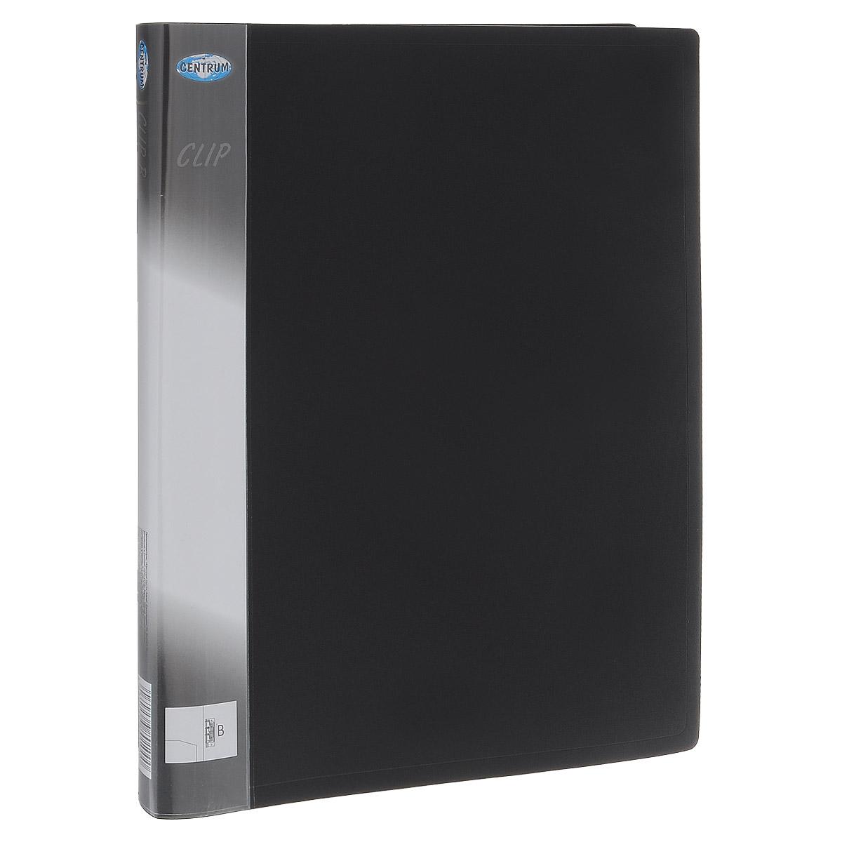 Папка с боковым зажимом Centrum Clip, цвет: черный. Формат А4FS-36054Папка с боковым зажимом Centrum Clip - это удобный и практичный офисный инструмент,предназначенный для хранения и транспортировки рабочих бумаг и документов формата А4.Папка изготовлена из прочного пластика и оснащена металлическим зажимом и внутренним прозрачным кармашком.Папка с боковым зажимом - это незаменимый атрибут для студента, школьника, офисного работника. Такая папка надежно сохранит ваши документы и сбережет их от повреждений, пыли и влаги.