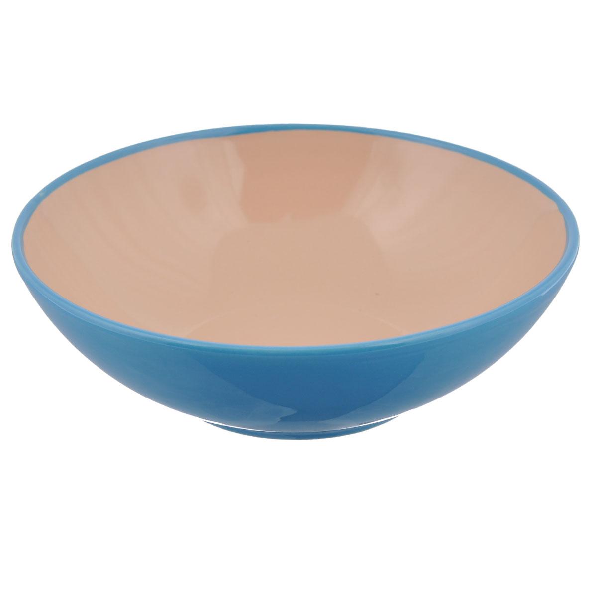 Салатник Shenzhen Xin Tianli, цвет: бирюзовый, 580 млTLSDW-9Салатник Shenzhen Xin Tianli изготовлен из керамики, покрытой слоем сверкающей глазури. Салатник прекрасно подходит для сервировки салатов, фруктов, ягод и других продуктов. Яркий дизайн стильно украсит стол. Идеальный вариант для ежедневного использования. Объем: 580 мл. Диаметр салатника (по верхнему краю): 18 см. Высота стенки салатника: 6 см.