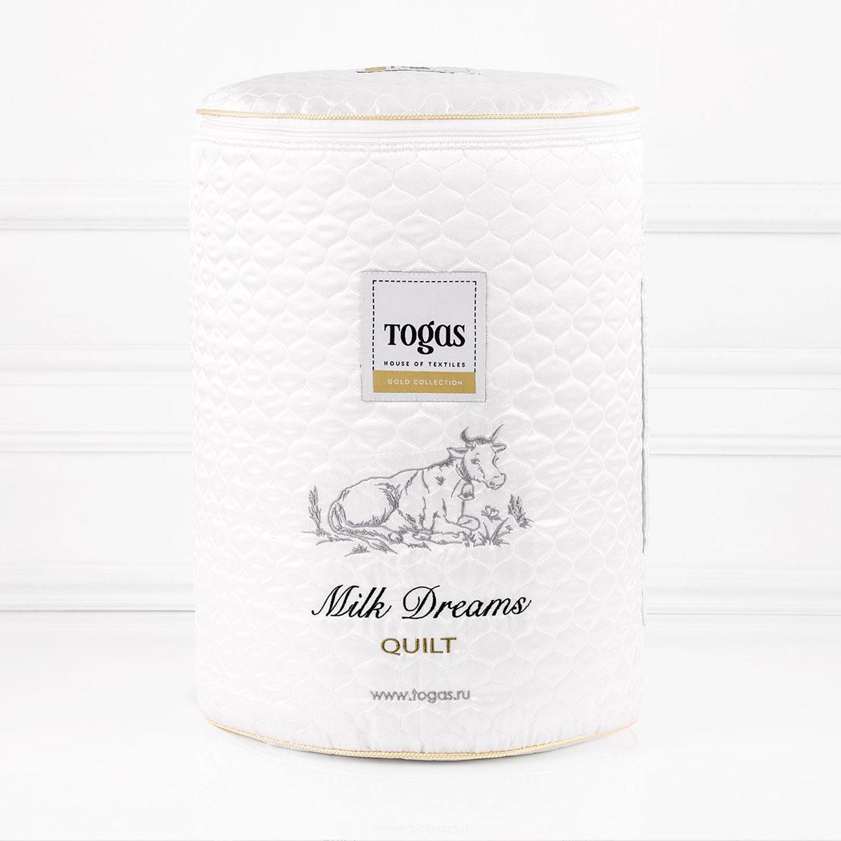 Одеяло Togas Милк дримс, наполнитель: молочное волокно, 140 х 200 см20.04.16.0095Чехол одеяла Togas Милк дримс выполнен из жаккарда (100% модал). Наполнитель одеяла изготовлен из молочного волокна. Модал - материал нового поколения, появился сравнительно недавно. Несмотря на синтетическое происхождение, он считается экологически чистым, так как изготовлен из 100% древесной целлюлозы. Целлюлоза для модала используется высококачественная, чаще всего из эвкалиптового дерева, бука, сосны. Молочное волокно имеет гипоаллергенные и антибактериальные свойства. Наполнитель из молочного волокна отлично поглощает лишнюю влагу, не препятствует естественному дыханию кожи во время сна и при этом сохраняет все свои свойства после многократных стирок. Такое одеяло абсолютно натуральное и безопасное. Оно дарит всю пользу молока вашей коже, насыщая ее во время сна аминокислотами, микроэлементами и оказывая на нее естественно увлажняющее и стимулирующее кровообращение действие.