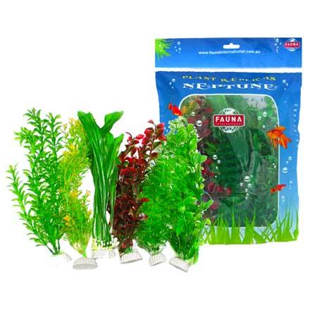 Растение NEPTUNE 20 см зеленое, цветное 6шт/упFIPP-0142Набор растений для интерьера аквариума
