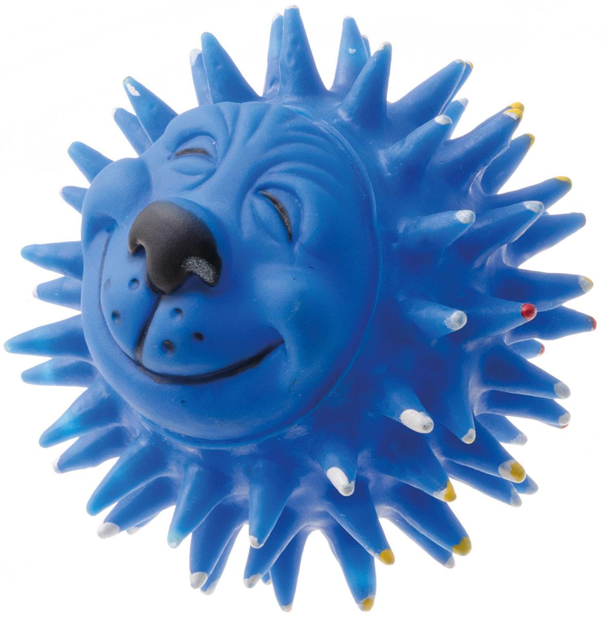 Игрушка для собак V.I.Pet Мяч массажный. Довольный еж, диаметр 10 смV-307Игрушка для собак V.I.Pet Массажный мяч. Довольный еж, изготовленная из винила, предназначена для массажа и самомассажа рефлексогенных зон. Она имеет мягкие закругленные массажные шипы, эффективно массирующие и не травмирующие кожу. Изделие оснащено пищалкой. Игрушка не позволит скучать вашему питомцу ни дома, ни на улице. Диаметр: 10 см.
