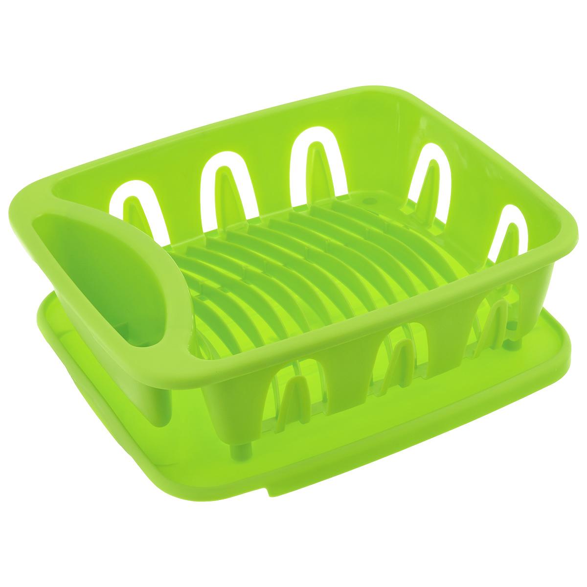 Сушилка для посуды Dommix, цвет: салатовый, 35,5 х 31 х 13 см154ED_салатовыйСушилка для посуды Dommix, выполненная из высококачественного пластика, представляет собой подставку с ячейками, в которые помещается посуда, и отделением для столовых приборов. Сушилка оснащена пластиковым поддоном для стекания в него воды. Ваши тарелки высохнут быстро, если после мойки вы поместите их в легкую, яркую, современную пластиковую сушилку. Сушилка для посуды Dommix станет незаменимым атрибутом на вашей кухне. Размер сушилки: 35,5 см х 31 см х 13 см. Размер поддона: 35 см х 31 см х 0,8 см.