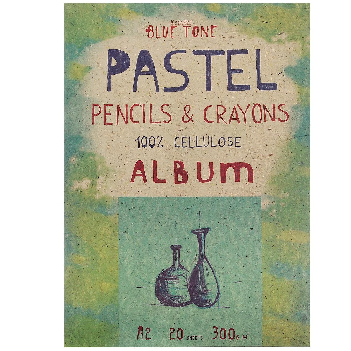 Альбом для пастели Kroyter, 20 листов, формат А206494Альбом Kroyter используется для рисования пастелью, мелками, углем. После грунтовки можно использовать для акриловых и масляных красок. Внутренний блок состоит из 20 листов картона голубого цвета. Крепление блока - склейка, выполненная по технологии, позволяющей изымать листы из блока без его разрушения. Твердая подложка позволяет использовать альбом вне класса или дома. Формат листов - А2. Плотность: 300 г/м2.