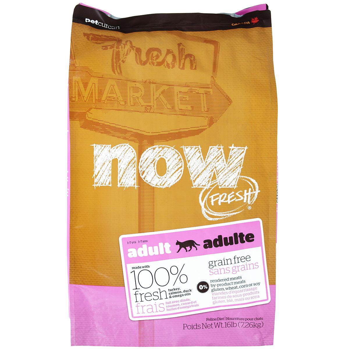 Корм сухой Now Fresh для взрослых кошек, беззерновой, с индейкой, уткой и овощами, 7,26 кг20044Now Fresh - полностью сбалансированный холистик корм из свежего филе индейки и утки, выращенных на канадских фермах. При производстве кормов используется только свежее мясо индейки, утки, лосося, кокосовое и рапсовое масло. Это первый беззерновой корм со сбалансированным содержание белков и жиров. Ключевые преимущества: - полностью беззерновой, - не содержит субпродуктов, красителей, говядины, мясных ингредиентов, выращенных на гормонах, - оптимальное соотношение белков и жиров помогает кошек оставаться здоровым и сохранять отличную форму, - докозагексаеновая кислота (DHA) и эйкозапентаеновая кислота (EPA) необходима для нормальной деятельности мозга и здорового зрения, - пробиотики и пребиотики обеспечивают здоровое пищеварение, - таурин необходим для здоровья глаз и нормального функционирования сердечной мышцы, - омега-масла в составе необходимы для здоровой кожи и шерсти, - антиоксиданты укрепляют...