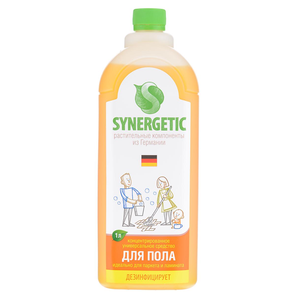 Средство для мытья полов Synergetic, концентрированное, 1 л101100Концентрированное средство для мытья полов Synergetic мягко очищает и ухаживает, защищая поверхность от неблагоприятного внешнего воздействия. Не оставляет разводов. Идеально подходит для мытья паркета и ламината, а также любых других поверхностей. Состав: 5-15% А-тензиды (растительного происхождения), НТА 3%, натуральный экстракт цветов, пищевой краситель. Товар сертифицирован.