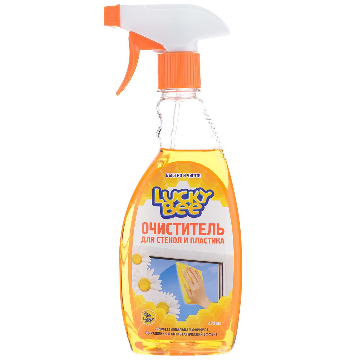 Очиститель Lucky Bee для стекол и пластика, 473 млLB7505Очиститель Lucky Bee быстро и эффективно очищает стеклянные и пластиковые поверхности от загрязнений, отпечатков пальцев, никотинового налета. Придает обработанной поверхности длительный антистатический эффект, обладает приятным свежим ароматом. Состав: деминерализованная вода, менее 30%: изопропанол, менее 5%: бутилцеллозольв, аммиак, ПАВ, антистатик, функциональные добавки, составляющие ноу-хау компании, краситель, отдушка. Товар сертифицирован.