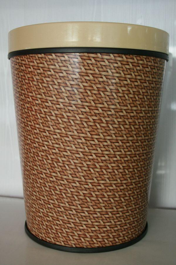 Ведро для мусора декор. с клипсой плетен./узор 703703