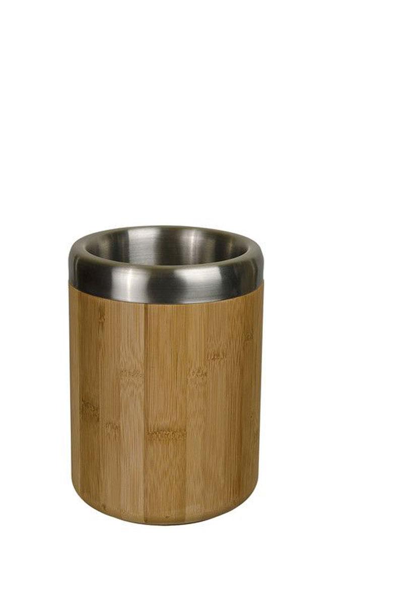 Охладитель для бутылки Lurch10760Охладитель для бутылок Lurch - это оригинальное приспособление, позволяющее в течение длительного времени поддерживать температуру напитков. Внешние стенки изделия изготовлены из натурального бамбука, внутренние из нержавеющей стали. Благодаря таким материалам, бутылка, которую вы заранее охладили в холодильнике или в морозильной камере, будет сохранять температуру, даже несмотря на жару на улице или в парной. Диаметр охладителя (по верхнему краю): 14 см. Высота: 20 см.