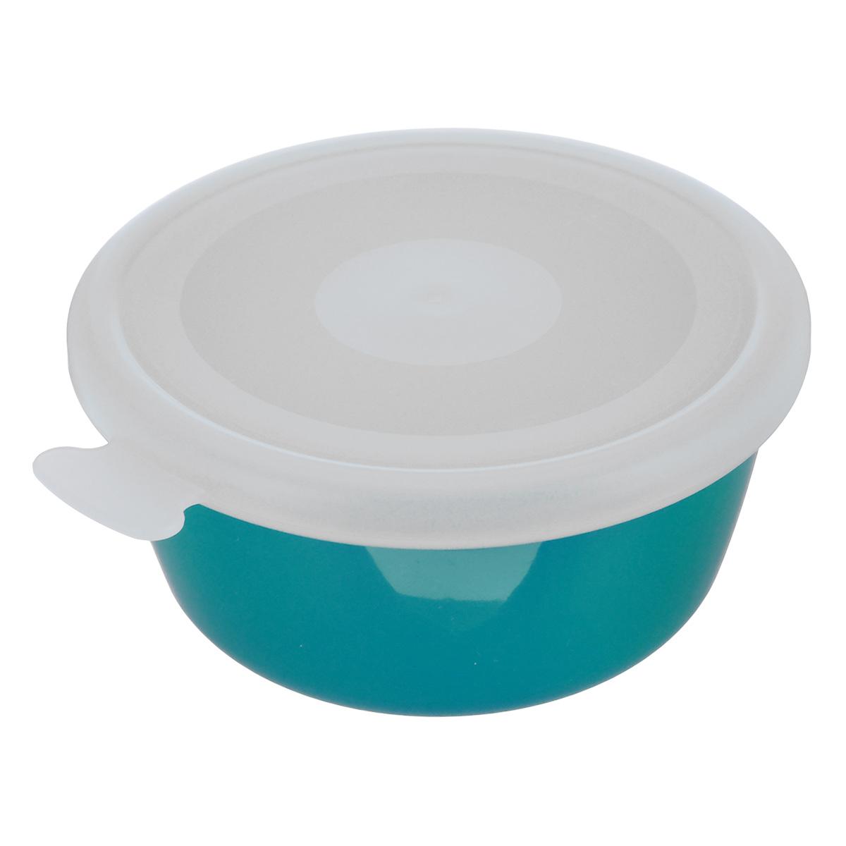 Миска Idea Прованс, с крышкой, цвет: бирюзовый, 350 млМ 1380Миска круглой формы Idea Прованс изготовлена из высококачественного пищевого пластика. Изделие очень функциональное, оно пригодится на кухне для самых разнообразных нужд: в качестве салатника, миски, тарелки. Герметичная крышка обеспечивает продуктам долгий срок хранения. Диаметр миски: 11,5 см. Высота миски: 5,5 см.