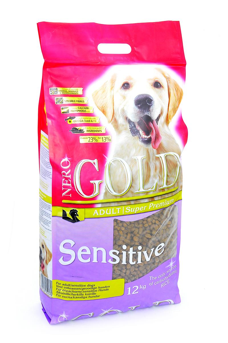 NERO GOLD super premium Для Чувствительных собак с Индейкой и рисом (Sensitive Turkey 23/13), 12 кг.0120710Состав: дегидрированное мясо индейки, рис, куриный жир, мякоть свеклы, льняное семя, гидролизованная куриная печень, дрожжи, минералы и витамины, гидролизованные хрящи (источник хондроитина), гидролизат ракообразных (источник глюкозамина), L-карнитин, лецитин, инулин (ФОС), таурин. Условия хранения: в прохладномтемном месте.