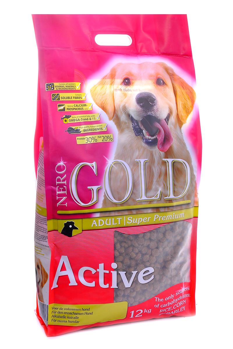 NERO GOLD super premium Для Активных собак: Курица и рис (Adult Active), 12 кг.10210Состав: дегидрированное куриное мясо, маис, рис, ячмень, куриный жир, мякоть свеклы, минералы и витамины, кэроб, льняное семя, гидролизованная куриная печень, лецитин, дрожжи. Условия хранения: в прохладном темном месте.