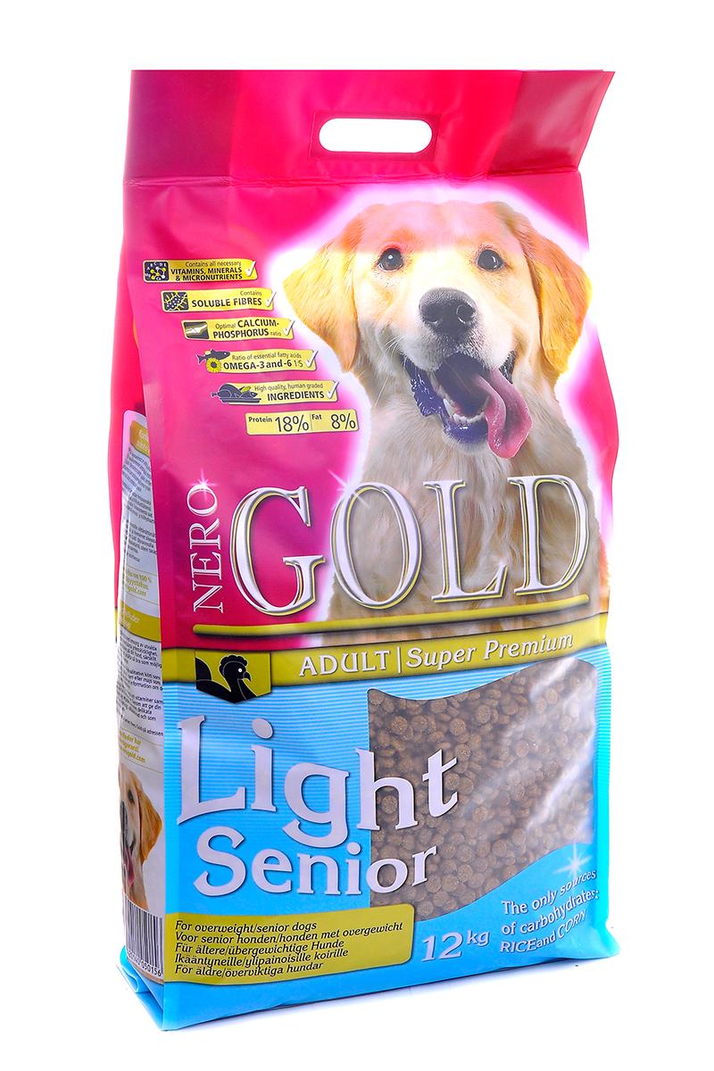 NERO GOLD super premium Для Пожилых собак: индейка рис (Senior/Light), 12 кг.10211Состав: маис, дегидрированное мясо индейки, рис, мякоть свеклы, куриный жир, гидролизованная куриная печень, льняное семя, кэроб, дегидрированная рыба, дрожжи, яичный порошок, минералы и витамины, гидролизованные хрящи (источник хондроитина), гидролизат ракообразных (источник глюкозамина), L-карнитин, лецитин, инулин (ФОС), таурин. Условия хранения: в прохладном темном месте.